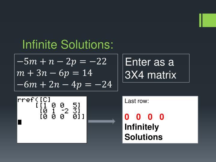 Infinite Solutions: