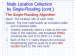 node loca tion collection by single flooding cont