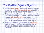 the modified dijkstra algorithm