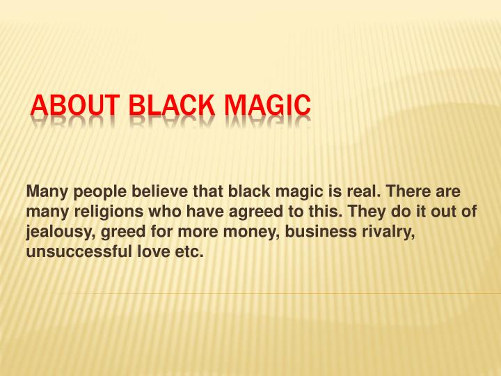 about black magic n.