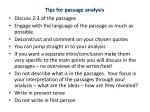 tips for passage analysis