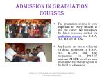 admission in graduation courses