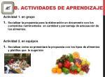 b actividades de aprendizaje