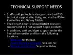 technical support needs