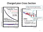charged pion cros s section