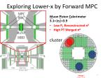 exploring lower x by forward mpc