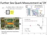 further sea quark measurement w dy