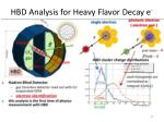 hbd analysis for heavy flavor decay e