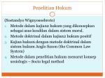 penelitian hukum