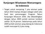 kunjungan wisatawan mancanegara ke indonesia