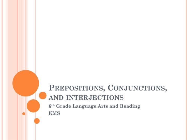 prepositions conjunctions and interjections n.