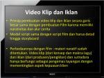 video klip dan iklan