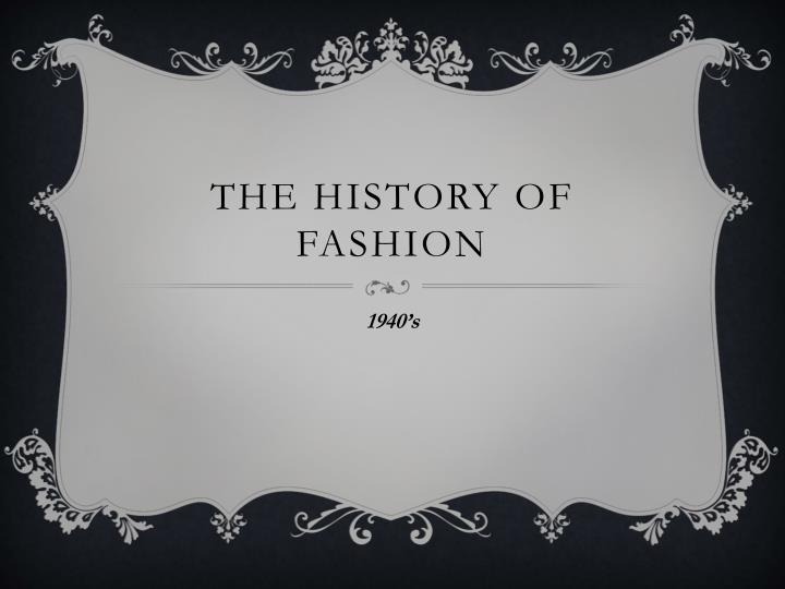 the history of fashion n.
