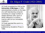 dr edgar f codd 1923 2003
