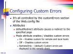 configuring custom errors