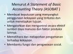 menurut a statement of basic accounting theory asobat