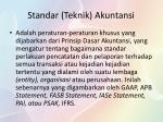 standar teknik akuntansi