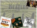 canzoni album