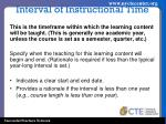 interval of instructional time