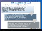 key messages for slos