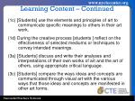 learning content continued1