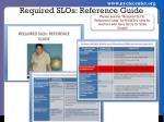 required slos reference guide