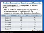student population baseline and target s1