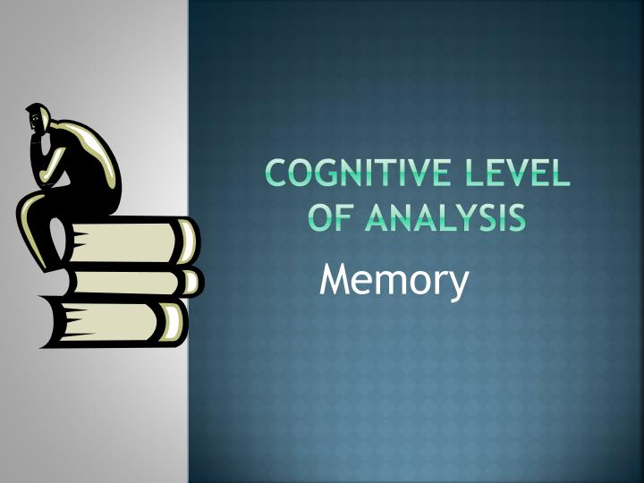 cognitive level of analysis n.