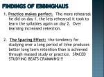 findings of ebbinghaus