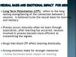 neural basis and emotional impact for memory