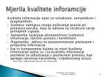 mjerila kvalitete inforamcije