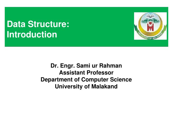 data structure introduction n.