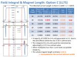 field integral magnet length option c ll75
