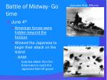 battle of midway go time