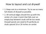 how to layout and cut drywall