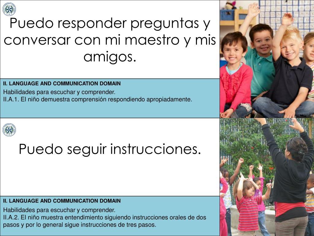 Ppt Puedo Responder Preguntas Y Conversar Con Mi Maestro Y Mis Amigos Powerpoint Presentation Id 6492702