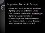important battles in europe