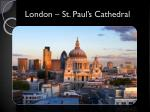 london st paul s cathedral