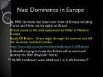 nazi dominance in europe