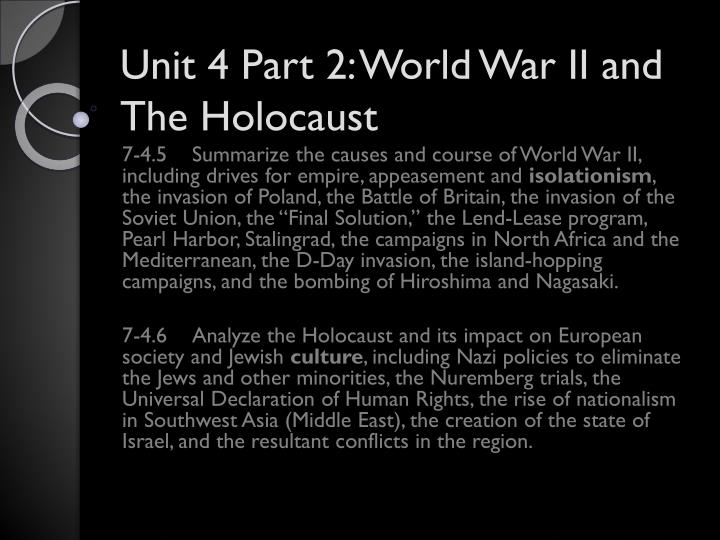 unit 4 part 2 world war ii and the holocaust n.