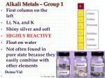 alkali metals group 1