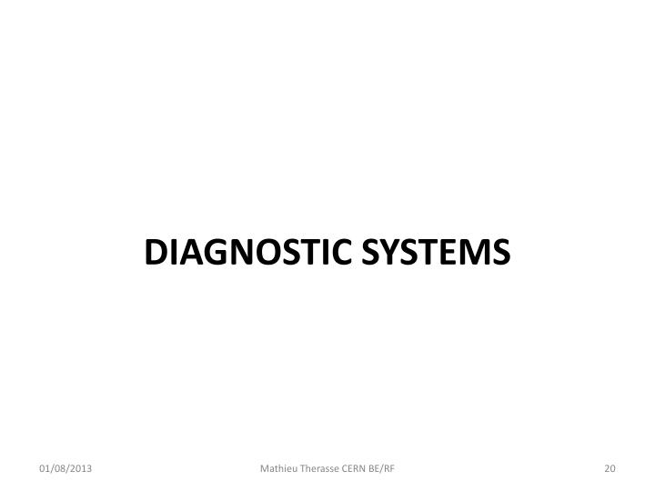 DIAGNOSTIC SYSTEMS