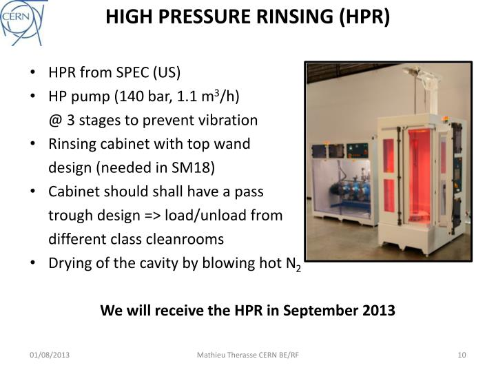 HIGH PRESSURE RINSING (HPR)