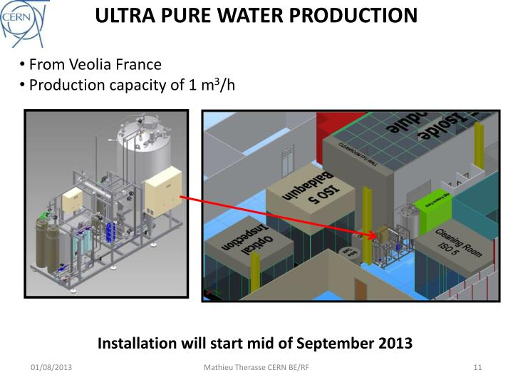 ULTRA PURE WATER PRODUCTION
