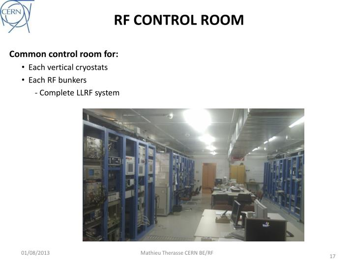 RF CONTROL ROOM