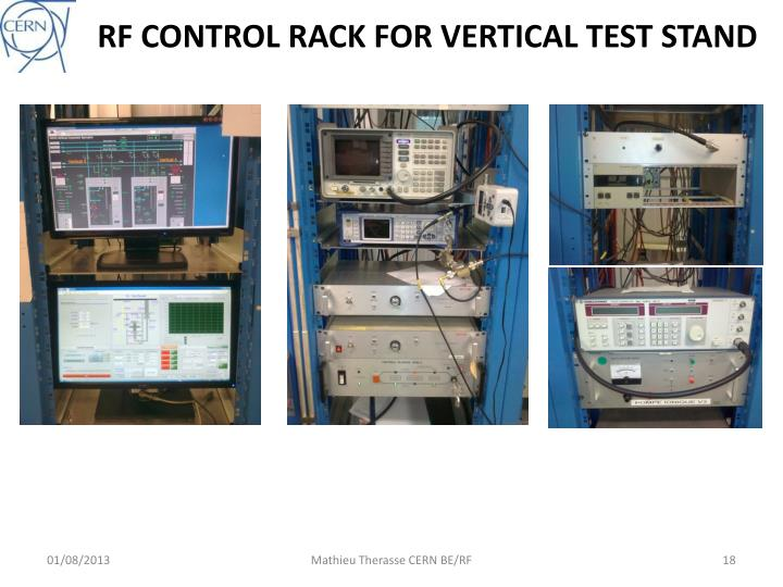 RF CONTROL RACK FOR VERTICAL TEST STAND