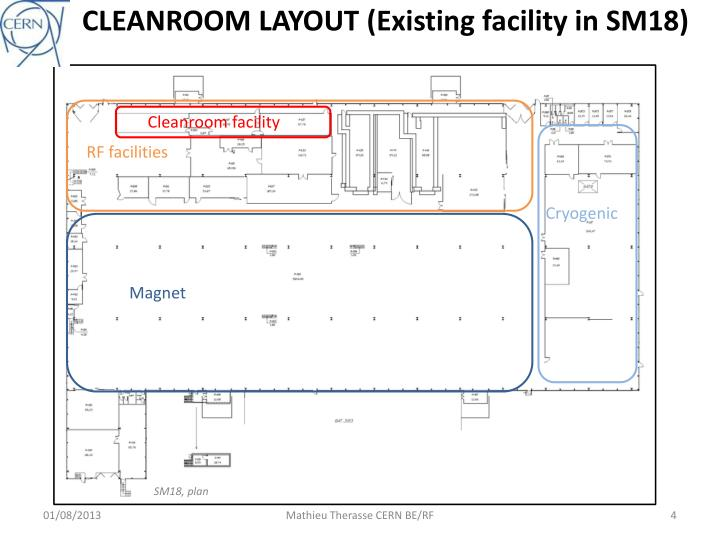 CLEANROOM LAYOUT (Existing facility in SM18)