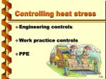 controlling heat stress
