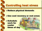 controlling heat stress2