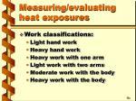 measuring evaluating heat exposures1